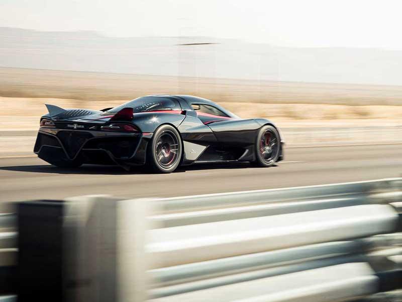 ركوردهاي گينس تواتارا با ركورد ۵۰۹ كيلومتربرساعت؛ سريعترين خودرو جهان شد
